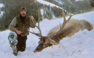 Man with Caribou